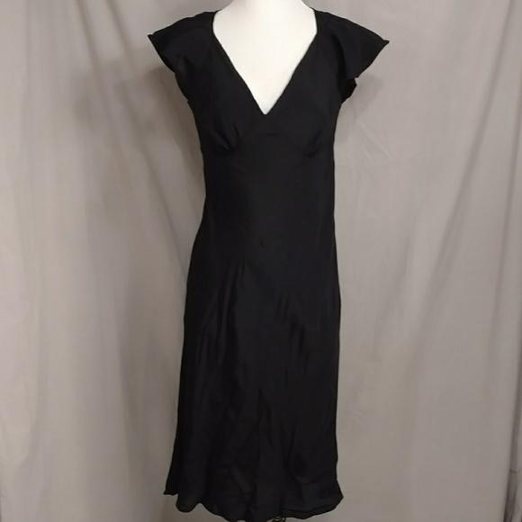 Vintage Dresses & Skirts - Forties Style Black Bias Cut Dress 1940's Look S/M
